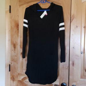 Black long jersey still night shirt - NWT